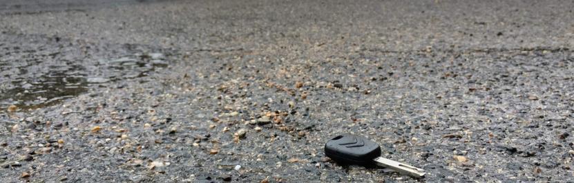 Une clé de voiture perdue