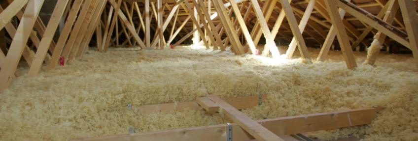 Des combles isolés à la laine minérale