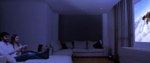 Soirée cinéma avec un vidéoprojecteur