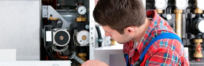 Réparation sur chaudière à condensation