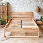 sommier en bois lit deux places