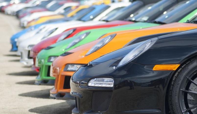 Porsche d'occasion alignées