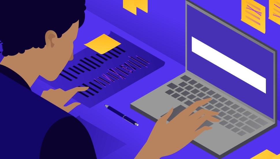 Dessin personnage sur ordinateur