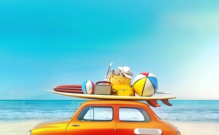 Voiture prete pour les vacances
